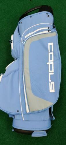 New Women's Cobra 14-Way UltraLight Golf Cart Bag Light Blue