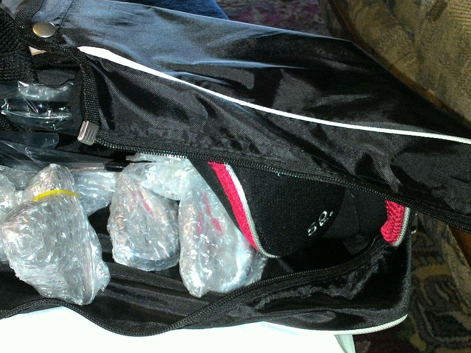 Nitro Lightweight Golf Bag Red w/5 pluse protector.