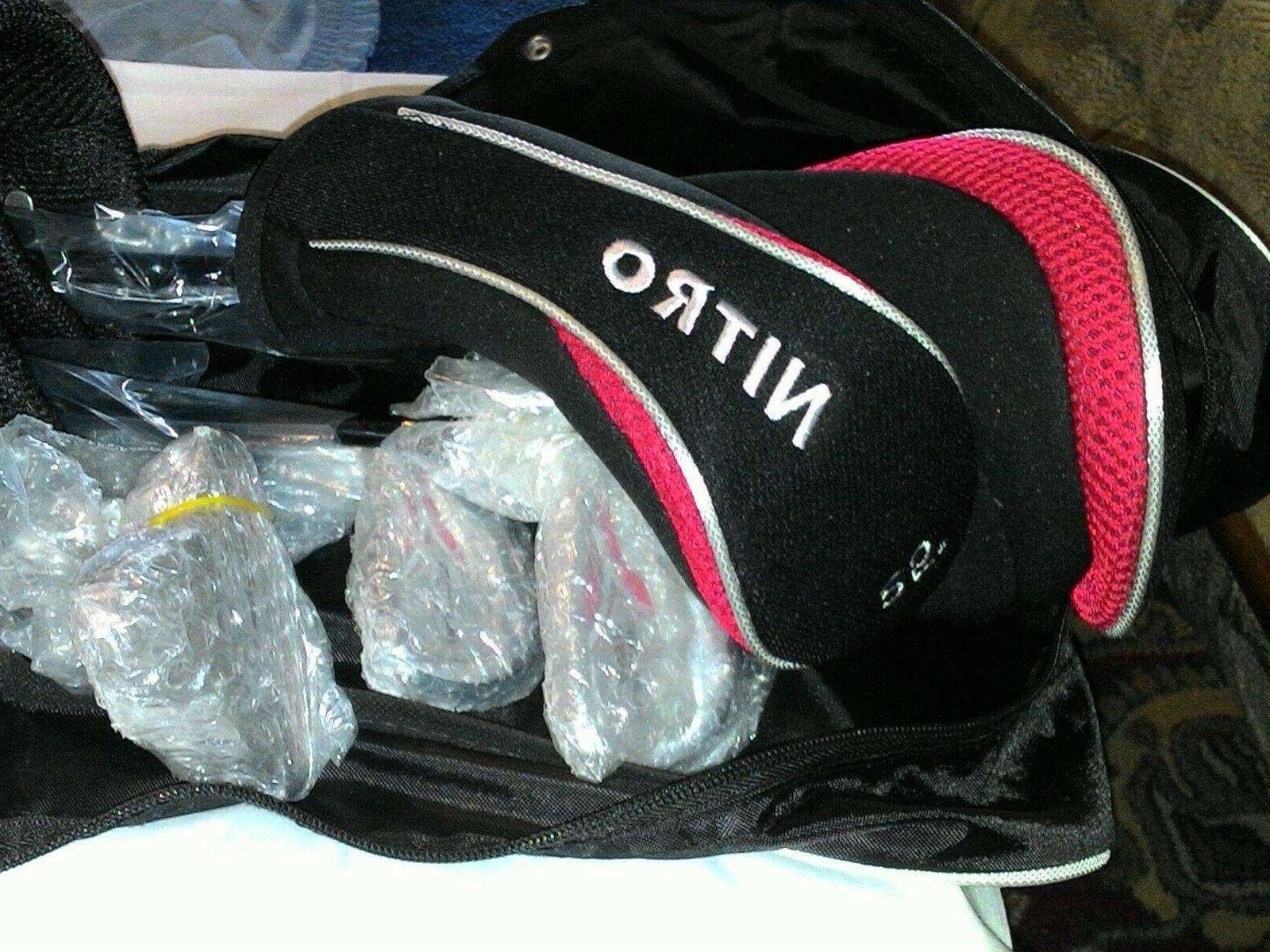 nitro lightweight pro stand golf bag red
