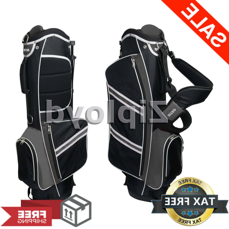 nitro lightweight stand golf stand bag black