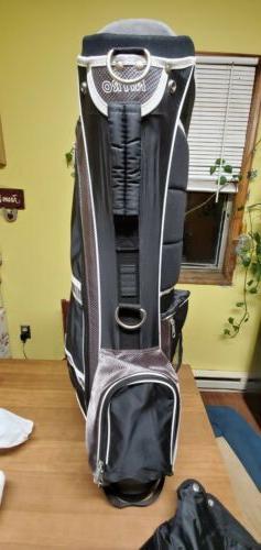 Nitro Mens Golf Bag 5 Way Divider Equip Stand Carry Strap St