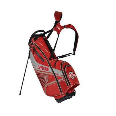 ohio state buckeyes caddie carry stand bag