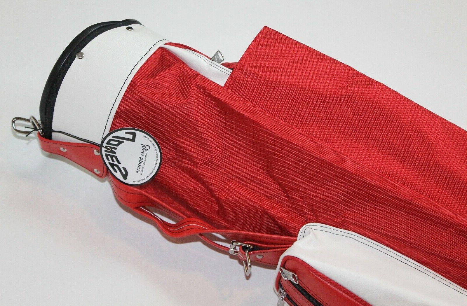Original Golf Strap Carry Bag Red & White Lightweight