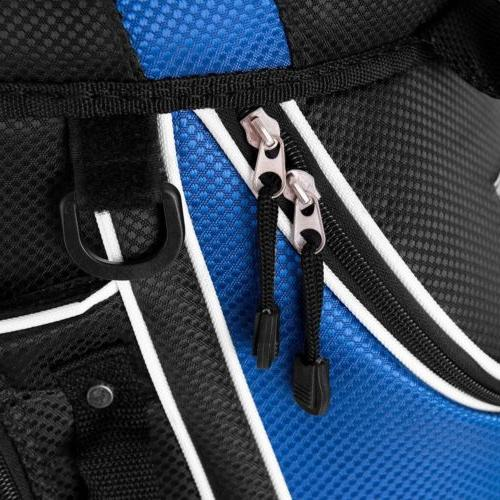 Outdoor Golf Bag with Way Organizer Divider Top Zipper Pockets