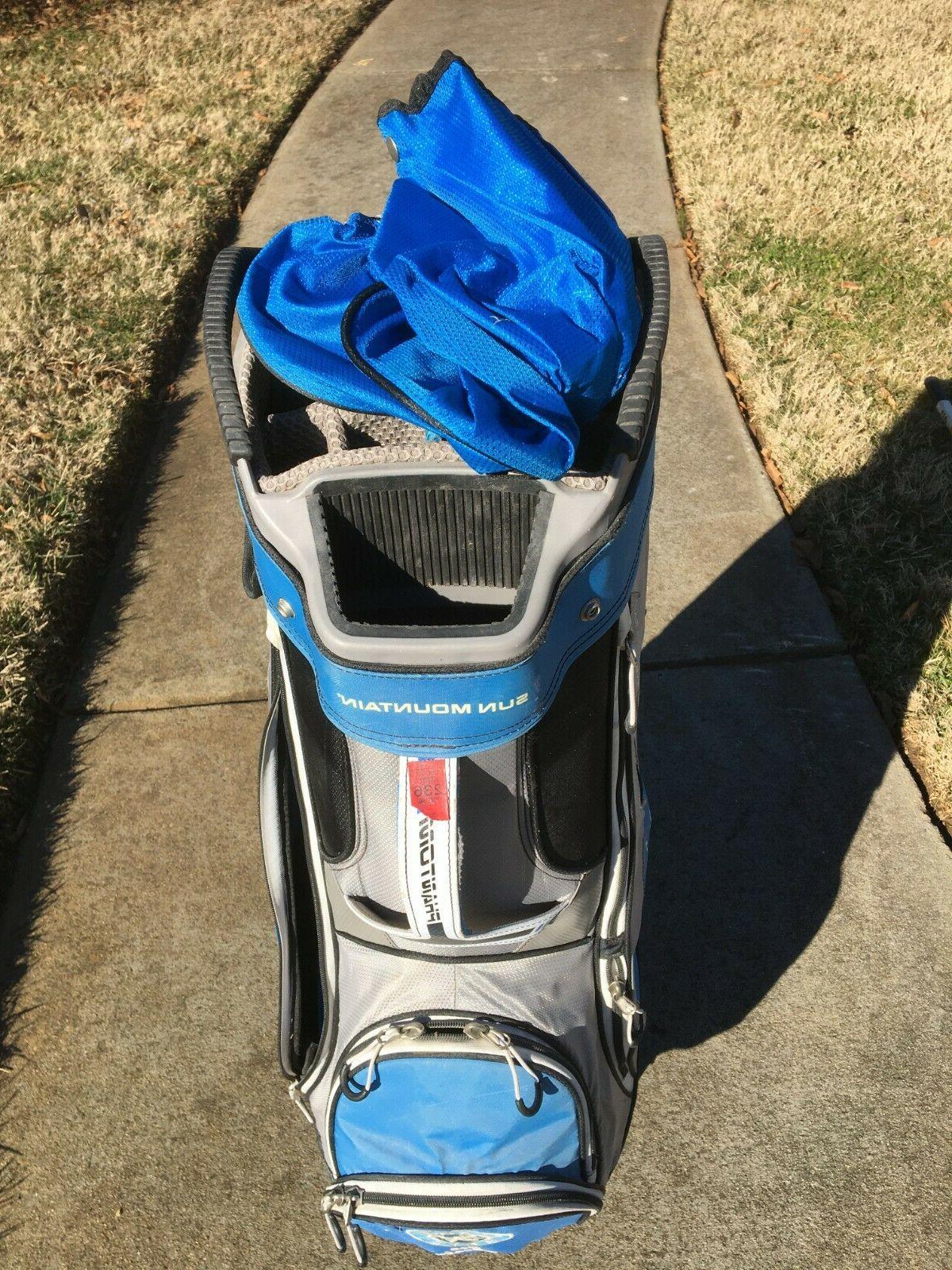Sun Mountain  Phantom 14 Way Cart Bag W/Rain Cover