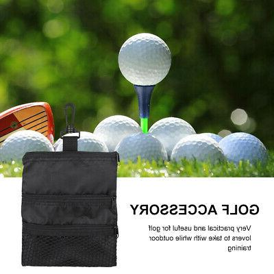 Portable Outdoor Golf Ball Accessories Multi-Pocket Black Zi