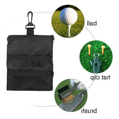 Portable Black Golf Ball Oxford Handbag Bag Golf