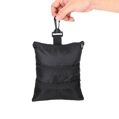 portable black golf ball oxford multi pocket