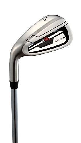 Top Handed M5 Golf Club Set Set Includes Driver, Hybrid, 6, 7, PW Stainless Irons with True Steel Shaft, Deluxe Bag