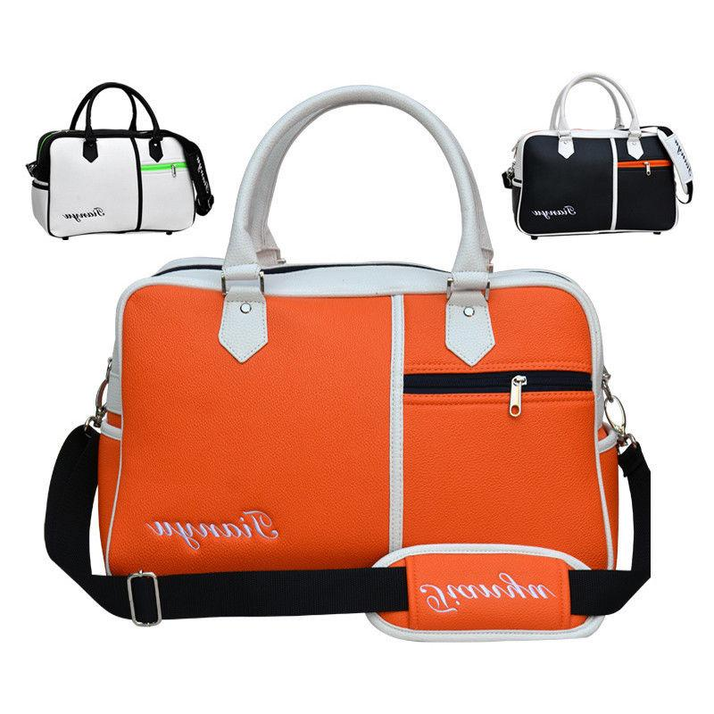 PU Golf Duffle Bag Golf Clothing Bag Boston Bag With Seperat
