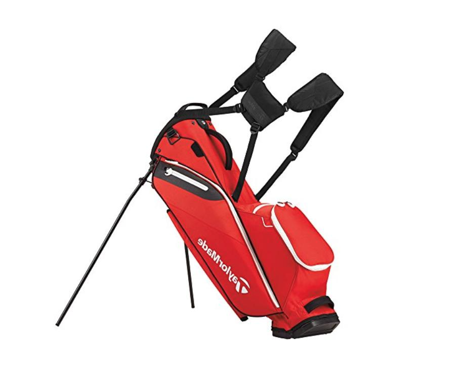 red black golf stand bag luxury top