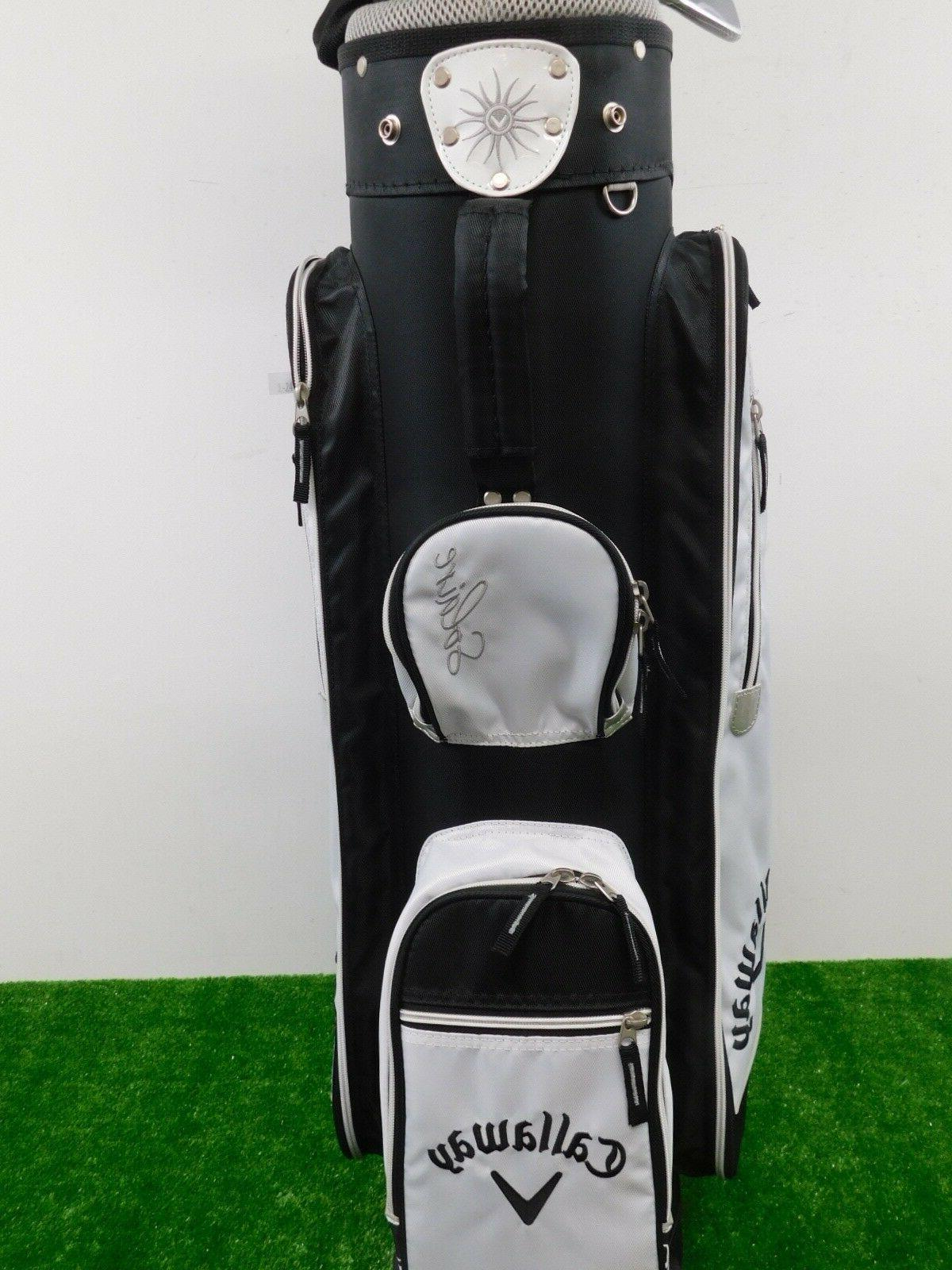 Callaway Black Complete Golf Set w Rain Ladies New