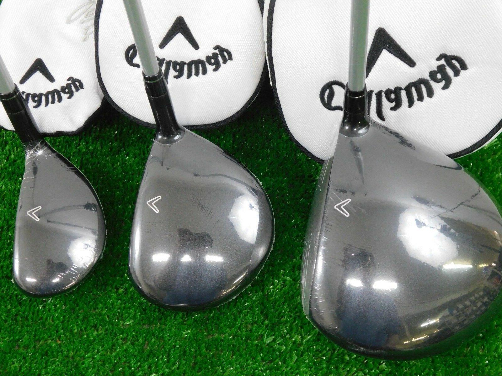 Callaway Gems Black Complete Golf w Bag, Rain Hood Ladies New
