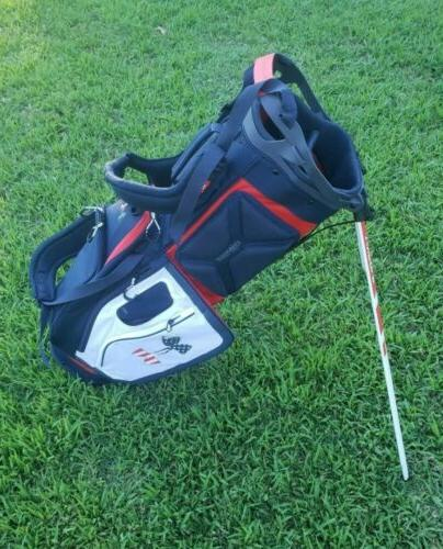 Under Match Play Stand Bag Red White