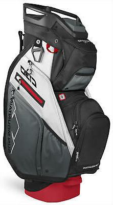 Sun Mountain C-130 Cart Bag Golf Black/Gunmetal/White/Red 20