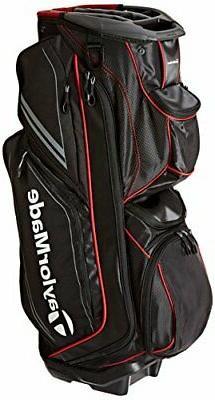 TaylorMade TM15 Catalina Golf Cart Bags, Black/Gray/Red