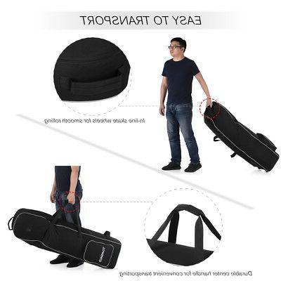 TOMSHOO Rolling Golf Travel Bag Cover Carrier N9L2