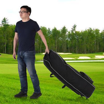 TOMSHOO Golf Rolling Golf Bag Cover Case Wheels N9L2