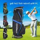 TOMSHOO Golf Stand Bag Cart Bag 14 Way Full Length Top Golf