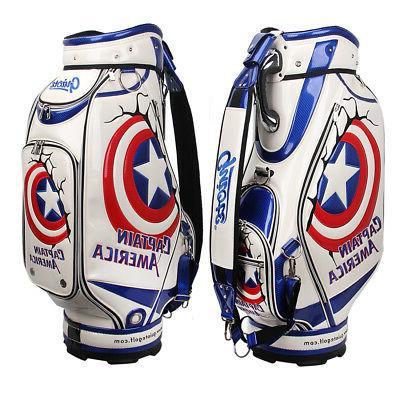 Guiote USA Golf staff bag Captain America caddie cart bag co