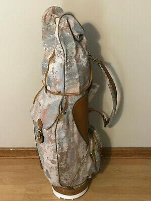vintage leather and fabric golf bag nice