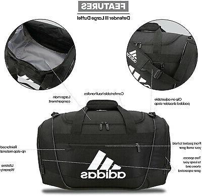 adidas Women's III small duffel Bag, Onix/Black/White, One