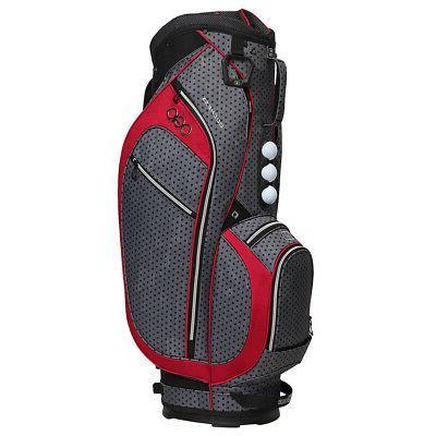 OGIO Women's Duchess Golf Cart Bag Black Polka Dot/Reef Pink