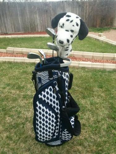 Women's GloVelt Golf blue bag clubs/putter/