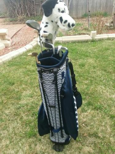 Women's bag clubs/putter/ 12 golf balls