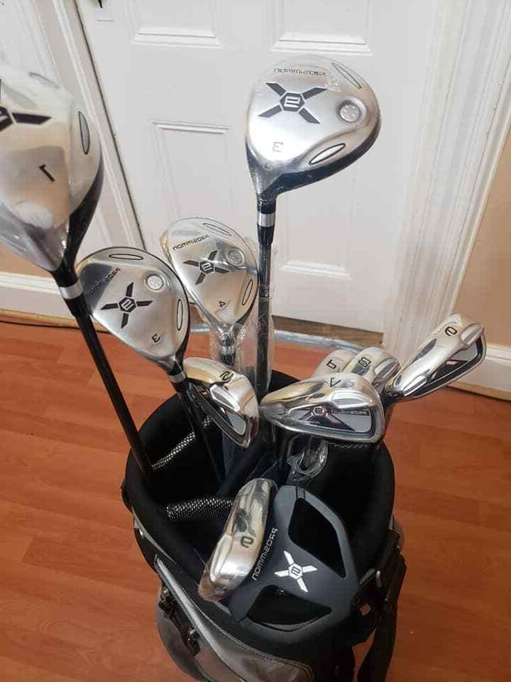 Prosimmon X9 Golf with 10 Golf Clubs Grey Way Divider