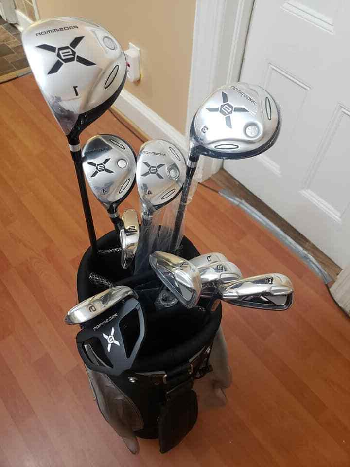 Prosimmon Bag with 10 Golf Clubs Grey Way Divider Weight