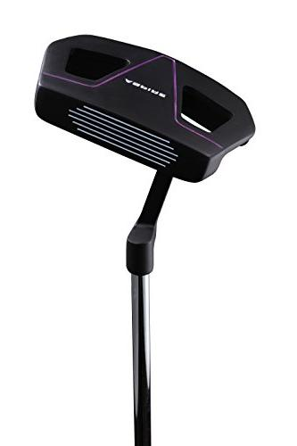 Aspire Womens Complete Handed Clubs Set Titanium Driver, Hybrid, Putter, Stand H/C's Purple