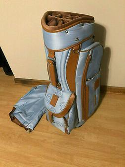 ladies 14 divider cart golf bag blue