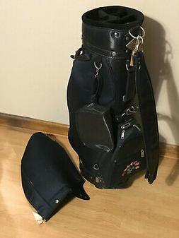 Hot Z Ladies Flowers Blue & Black Cart Golf Bag with Detacha