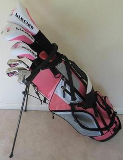 Ladies Golf Set Left Handed Driver Wood Hybrid Irons Putter