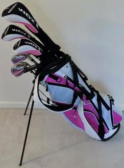 Ladies Left Handed Complete Golf Set Driver Wood Hybrid Iron