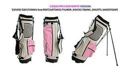 AGXGOLF LADIES PINK & GRAY EDITION FULL SIZE GOLF STAND BAG