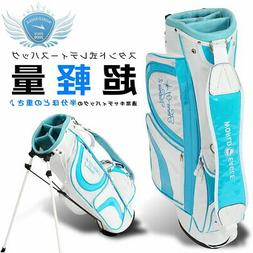 Ladies Stand With Caddy Bag Blue Well Wood Pro Recommended W
