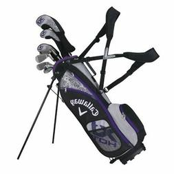 LEFT HANDED CALLAWAY GOLF 2015 X JUNIOR HOT  GIRLS COMPLETE