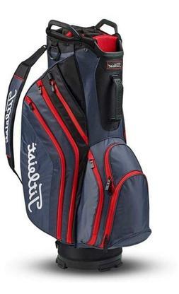 Titleist Lightweight Cart Bag-Charcoal/Black/Red-14 Way Divi