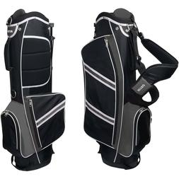 lightweight stand golf bag black silver original
