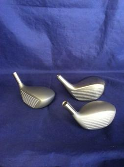 LOT OF 3 GOLF CLUB DRIVERS PREFERRED WOOD 1, 3, 5 NEW CONDIT