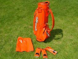 Louisville H&B Power Bilt Orange Golf Cart Bag Duro-Bilt Hea