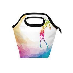 lunch bag rainbow geometric golf