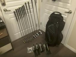 TAYLORMADE M2 COMPLETE GOLF SET , BAG, WOODS, AND IRONS,  LH