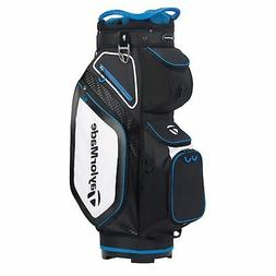 TaylorMade Mens Cart 8.0 Cart Golf Bag 2020 - Black/White/Bl