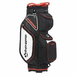 TaylorMade Mens Cart 8.0 Cart Golf Bag 2020 - Black/White/Re