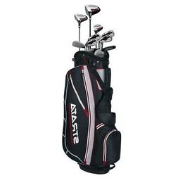 Callaway Mens Strata 12-Piece Complete Golf Set with Bag Rig