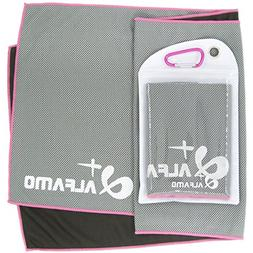 """Mesh Cooling Towel - 47"""" x 14"""" Extra Large As Scarf - Ultra"""