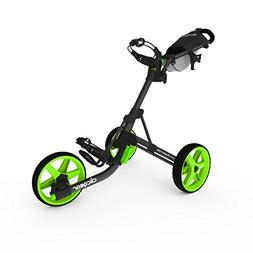 Clicgear Model 3.5+ Golf Push Cart - Charcoal/Lime